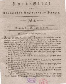 Amts-Blatt der Königlichen Regierung zu Danzig, 16. Januar 1839, Nr. 3