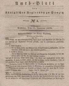 Amts-Blatt der Königlichen Regierung zu Danzig, 23. Januar 1839, Nr. 4