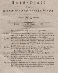 Amts-Blatt der Königlichen Regierung zu Danzig, 30. Januar 1839, Nr. 5