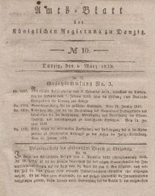 Amts-Blatt der Königlichen Regierung zu Danzig, 6. März 1839, Nr. 10