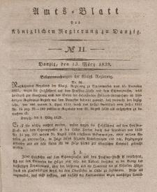 Amts-Blatt der Königlichen Regierung zu Danzig, 13. März 1839, Nr. 11
