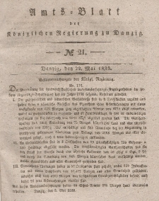 Amts-Blatt der Königlichen Regierung zu Danzig, 22. Mai 1839, Nr. 21