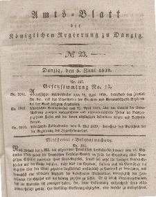 Amts-Blatt der Königlichen Regierung zu Danzig, 5. Juni 1839, Nr. 23