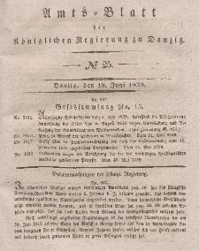 Amts-Blatt der Königlichen Regierung zu Danzig, 19. Juni 1839, Nr. 25