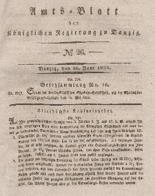 Amts-Blatt der Königlichen Regierung zu Danzig, 26. Juni 1839, Nr. 26