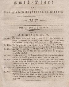 Amts-Blatt der Königlichen Regierung zu Danzig, 3. Juli 1839, Nr. 27