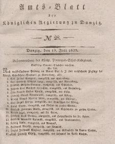 Amts-Blatt der Königlichen Regierung zu Danzig, 10. Juli 1839, Nr. 28