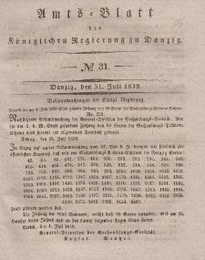 Amts-Blatt der Königlichen Regierung zu Danzig, 31. Juli 1839, Nr. 31