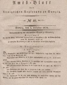 Amts-Blatt der Königlichen Regierung zu Danzig, 2. Oktober 1839, Nr. 40