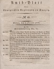 Amts-Blatt der Königlichen Regierung zu Danzig, 9. Oktober 1839, Nr. 41