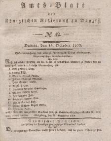 Amts-Blatt der Königlichen Regierung zu Danzig, 16. Oktober 1839, Nr. 42