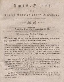 Amts-Blatt der Königlichen Regierung zu Danzig, 13. November 1839, Nr. 46