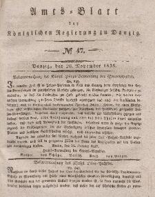 Amts-Blatt der Königlichen Regierung zu Danzig, 20. November 1839, Nr. 47