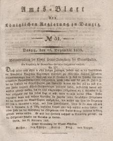 Amts-Blatt der Königlichen Regierung zu Danzig, 18. Dezember 1839, Nr. 51