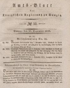 Amts-Blatt der Königlichen Regierung zu Danzig, 25. Dezember 1839, Nr. 52