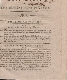 Amts-Blatt der Königlichen Regierung zu Danzig, 4. Januar 1837, Nr. 1