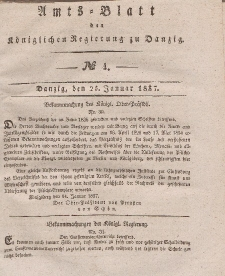 Amts-Blatt der Königlichen Regierung zu Danzig, 25. Januar 1837, Nr. 4