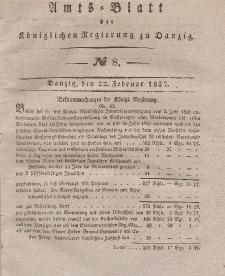 Amts-Blatt der Königlichen Regierung zu Danzig, 22. Februar 1837, Nr. 8