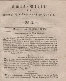 Amts-Blatt der Königlichen Regierung zu Danzig, 22. März 1837, Nr. 12