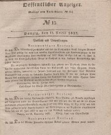 Amts-Blatt der Königlichen Regierung zu Danzig, 12. April 1837, Nr. 15