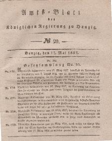 Amts-Blatt der Königlichen Regierung zu Danzig, 17. Mai 1837, Nr. 20