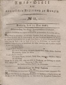 Amts-Blatt der Königlichen Regierung zu Danzig, 24. Mai 1837, Nr. 21