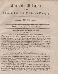 Amts-Blatt der Königlichen Regierung zu Danzig, 7. Juni 1837, Nr. 23