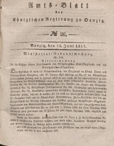 Amts-Blatt der Königlichen Regierung zu Danzig, 28. Juni 1837, Nr. 26
