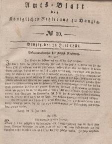 Amts-Blatt der Königlichen Regierung zu Danzig, 26. Juli 1837, Nr. 30