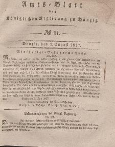 Amts-Blatt der Königlichen Regierung zu Danzig, 2. August 1837, Nr. 31