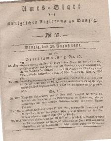 Amts-Blatt der Königlichen Regierung zu Danzig, 30. August 1837, Nr. 35