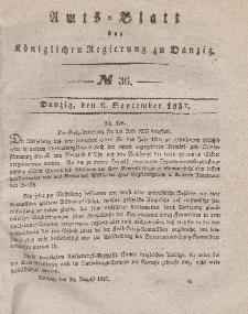 Amts-Blatt der Königlichen Regierung zu Danzig, 6. September 1837, Nr. 36
