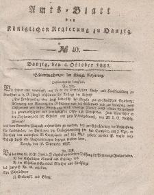 Amts-Blatt der Königlichen Regierung zu Danzig, 4. Oktober 1837, Nr. 40