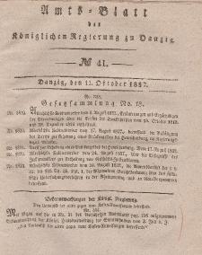 Amts-Blatt der Königlichen Regierung zu Danzig, 11. Oktober 1837, Nr. 41
