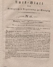 Amts-Blatt der Königlichen Regierung zu Danzig, 1. November 1837, Nr. 44