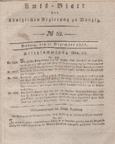 Amts-Blatt der Königlichen Regierung zu Danzig, 27. Dezember 1837, Nr. 52