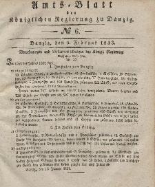 Amts-Blatt der Königlichen Regierung zu Danzig, 6. Februar 1833, Nr. 6