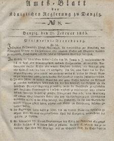 Amts-Blatt der Königlichen Regierung zu Danzig, 20. Februar 1833, Nr. 8