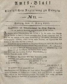 Amts-Blatt der Königlichen Regierung zu Danzig, 13. März 1833, Nr. 11