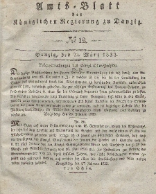 Amts-Blatt der Königlichen Regierung zu Danzig, 20. März 1833, Nr. 12