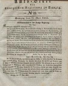 Amts-Blatt der Königlichen Regierung zu Danzig, 29. Mai 1833, Nr. 22