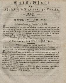 Amts-Blatt der Königlichen Regierung zu Danzig, 5. Juni 1833, Nr. 23