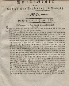 Amts-Blatt der Königlichen Regierung zu Danzig, 19. Juni 1833, Nr. 25