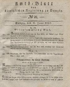 Amts-Blatt der Königlichen Regierung zu Danzig, 26. Juni 1833, Nr. 26