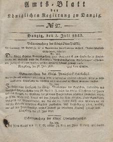 Amts-Blatt der Königlichen Regierung zu Danzig, 3. Juli 1833, Nr. 27