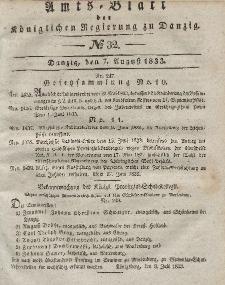 Amts-Blatt der Königlichen Regierung zu Danzig, 7. August 1833, Nr. 32