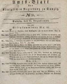 Amts-Blatt der Königlichen Regierung zu Danzig, 28. August 1833, Nr. 35