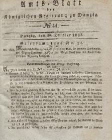 Amts-Blatt der Königlichen Regierung zu Danzig, 30. Oktober 1833, Nr. 44