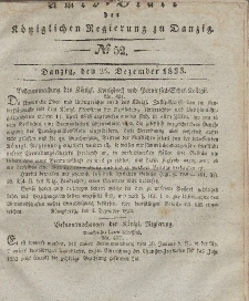 Amts-Blatt der Königlichen Regierung zu Danzig, 25. Dezember 1833, Nr. 52