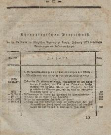 Amts-Blatt der Königlichen Regierung zu Danzig, Jahrgang 1833 (Chronologisches Verzeichniß)